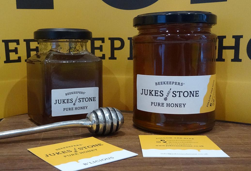 Jukes & Stone 227g and 340g honey jars
