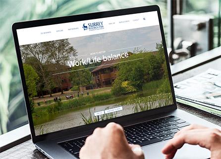Surrey Research Park website landing page