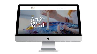 Artist starter website home page mockup